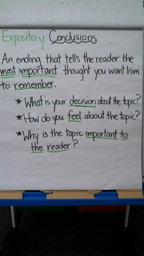 Expository conclusions