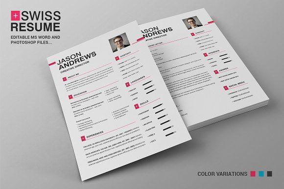 Swiss Resume Cv Resume Cv Resume Templates Resume