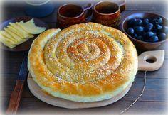 Слоеный пирог по-деревенски - пошаговый рецепт с фото: Очень простой, быстрый в приготовлении, вкусный пирог можно подавать как к чаю, так и в качестве закуски. Начинка... - Леди Mail.Ru тесто слоеное  1 упаковка яйца куриные  1 шт. кунжут  30 г сыр  100 г оливки  80 г фасоль стручковая  100 г зелень  несколько в