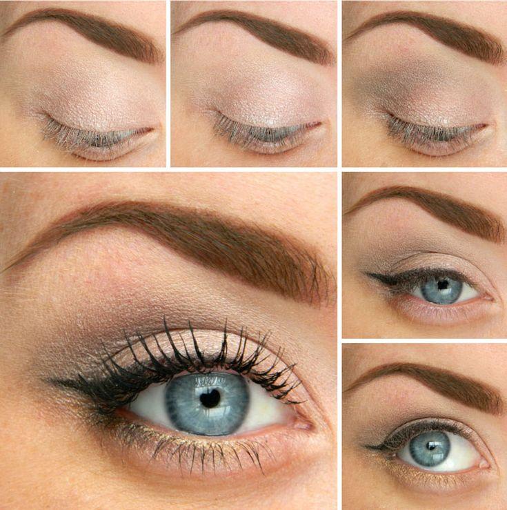 Светлый макияж глаз на каждый день