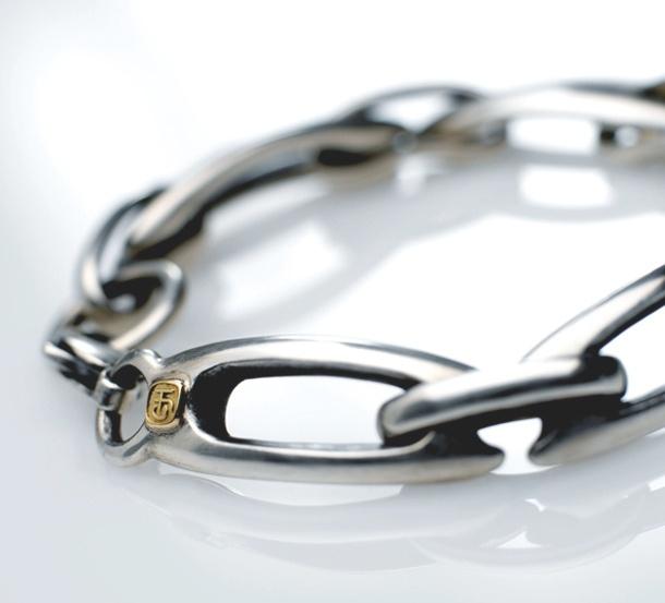 Lozenge bracelet. Chris Hawkins Jewellery, Antennae collection.