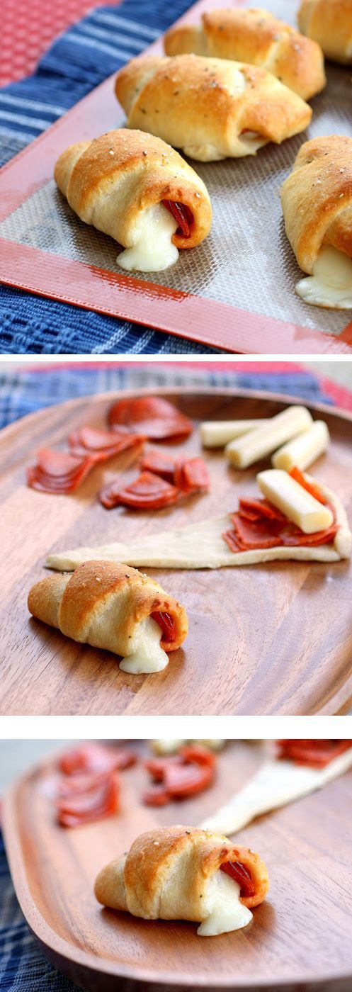 Pepperoni Cheese Stick Roll Ups.