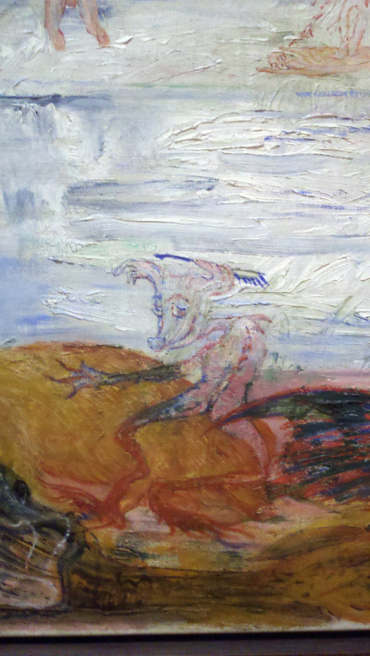 """Tribulations of Saint Anthony,"" (detail), James Ensor, 1887. Oil on canvas, 46 3/8 x 66"" (117.8 x 167.6 cm).  1642.1940, Museum of Modern Art"
