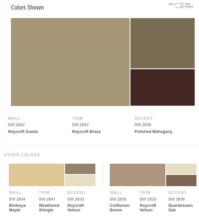 Sherwin Williams Roycroft Suede Craftsman Bungalow Colors Pinterest Craftsman Exterior