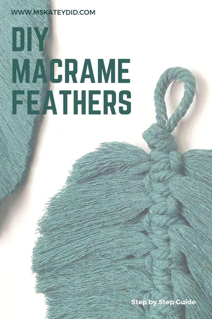 How to make Macrame Feathers/Leaves in 2020 Macrame, Diy