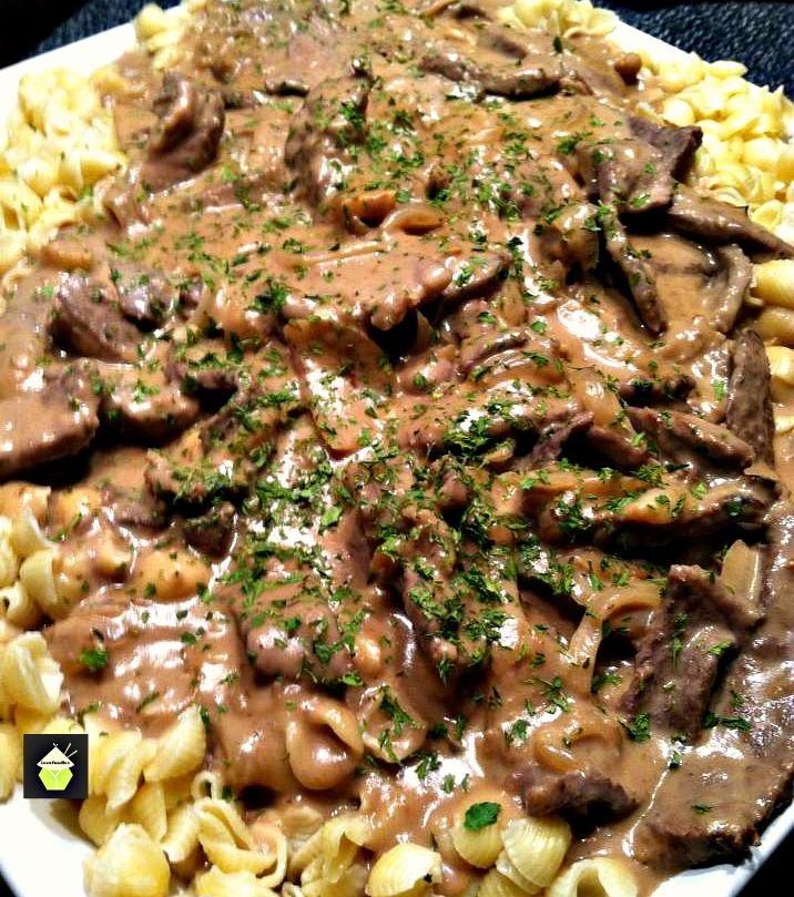 Beef Stroganoff. Quick and Easy dinner with a great sauce!