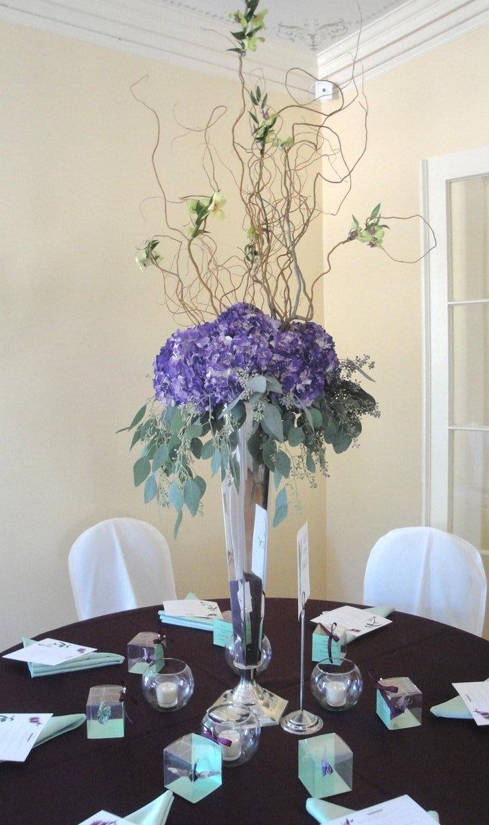 Best purple hydrangea centerpieces ideas on pinterest