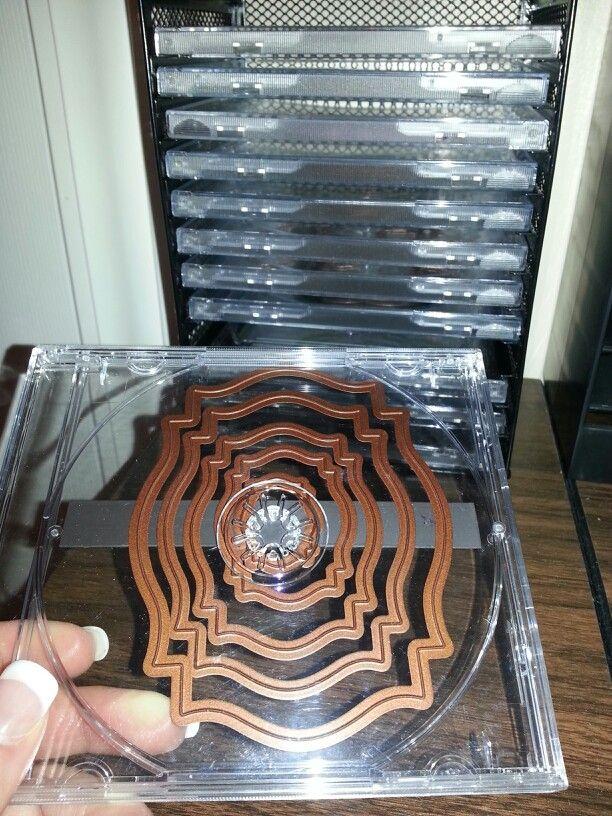 Nestabilities framelits and spellbinders storage. Use a magnet roll in blank cd holders