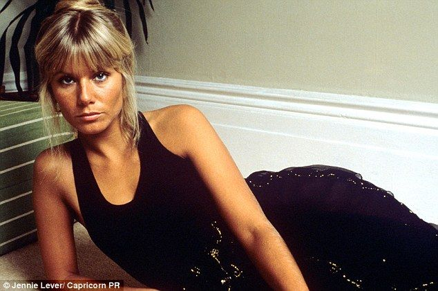 Glynis (pictured when she was younger) says she has only used organic products on her face...