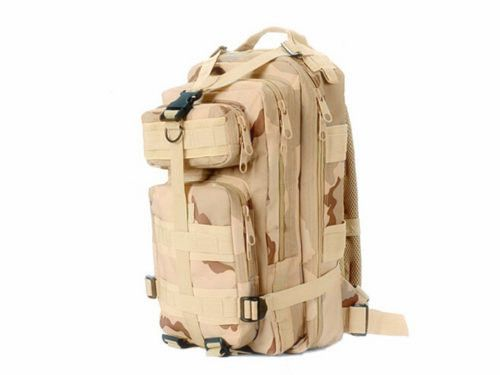 30L Tactical Bag Military Backpack Rucksack Molle Hiking Outdoor BOB Camping