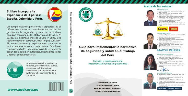 Portada y contraportada del 1er libro que desarrolla la normativa de SST del Perú.
