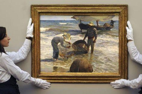 4,5 millones de euros por el cuadro de Sorolla 'Pescadores valencianos' - Este óleo ha superado el récord de cotización en libras del artista español
