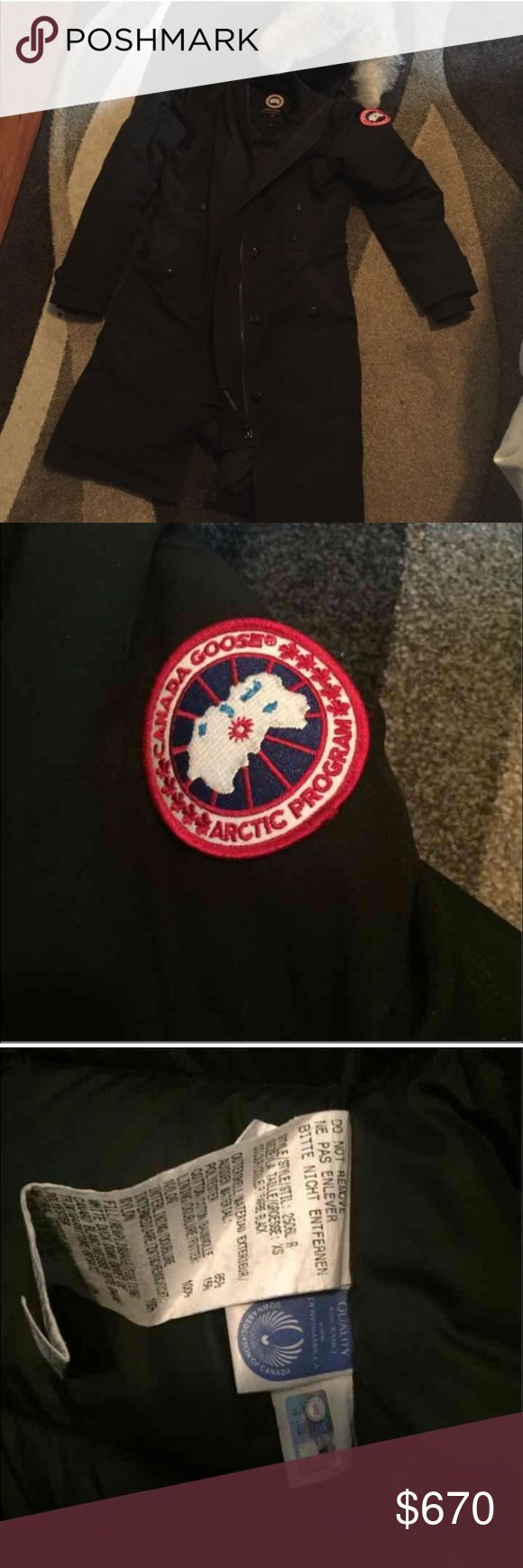 Canada Goose Kensington Black XS Relisting, couldn't ship it out on time because was out of town. Used but still very good condition. Canada Goose Jackets & Coats