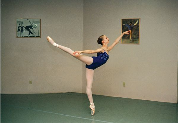 Pacific Northwest Ballet's Lesley Rausch at age 15 (photo courtesy Lesley Rausch)