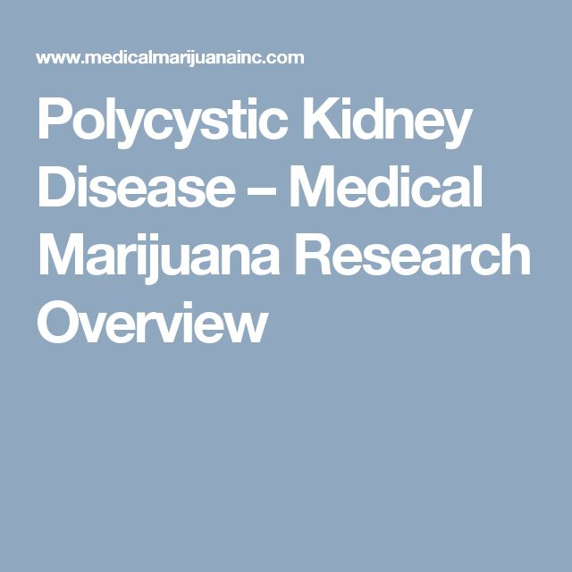 Polycystic Kidney Disease – Medical Marijuana Research Overview