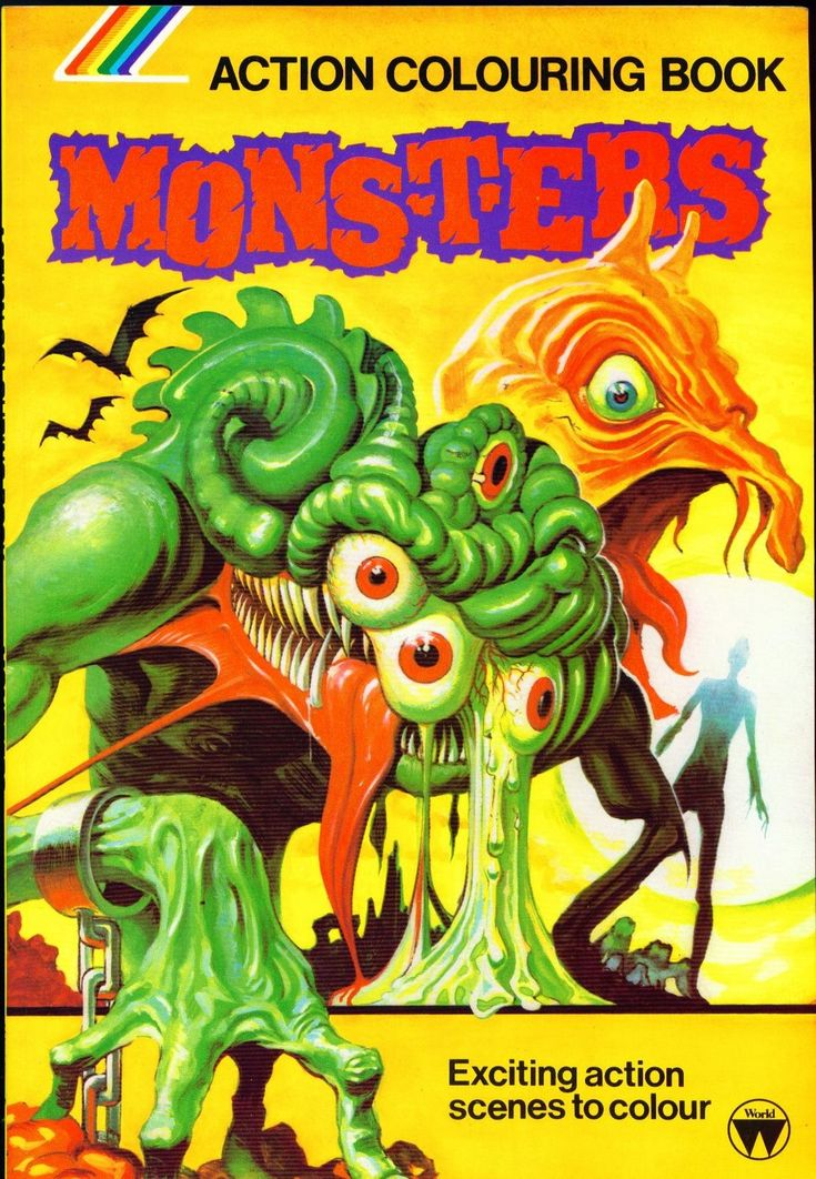 Monsters Action Colouring Book 1970s Coloring Books