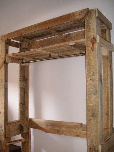 tendance nature et r cupe tout en palette penderie palette et metal. Black Bedroom Furniture Sets. Home Design Ideas