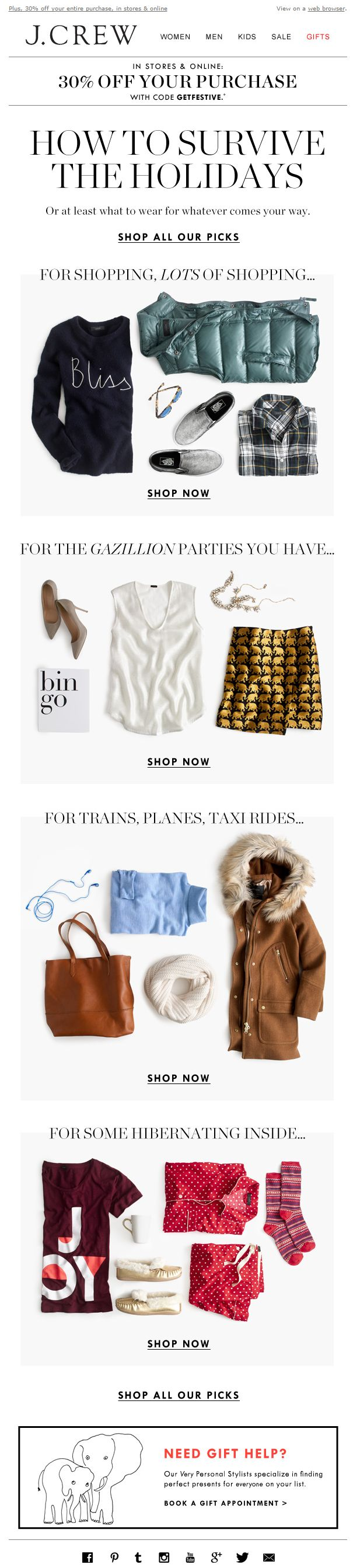 Great holiday content from J.Crew
