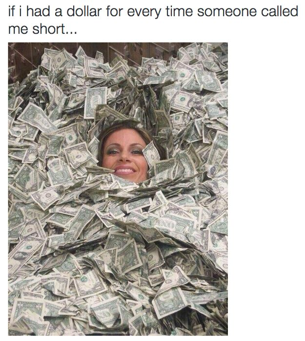"""You're short!"" 