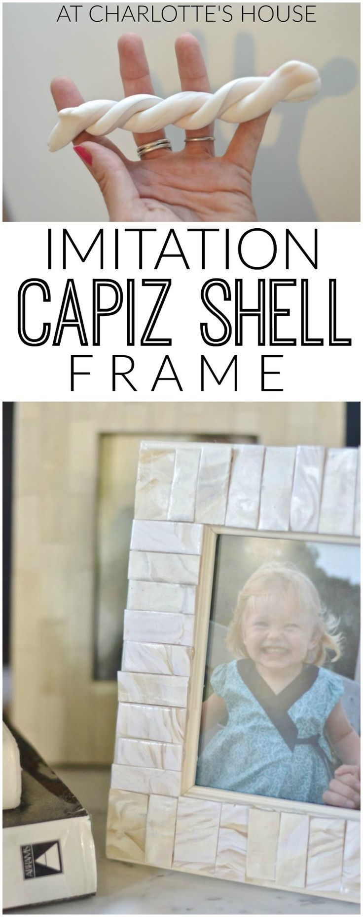 DIY imitation capiz shell frame