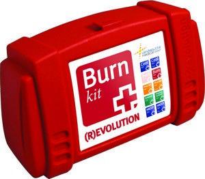 Basic Burnkit, waarin alles zit wat je nodig hebt bij het behandelen van een brandwond