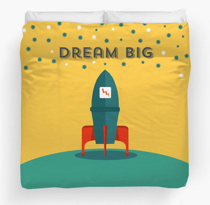 Duvet Cover, Kids duvet cover, Nursery duvet cover, space rocket duvet, twin duvet cover, queen duvet, boys bedding, Spring trends by TheGretest on Etsy https://www.etsy.com/listing/224385058/duvet-cover-kids-duvet-cover-nursery