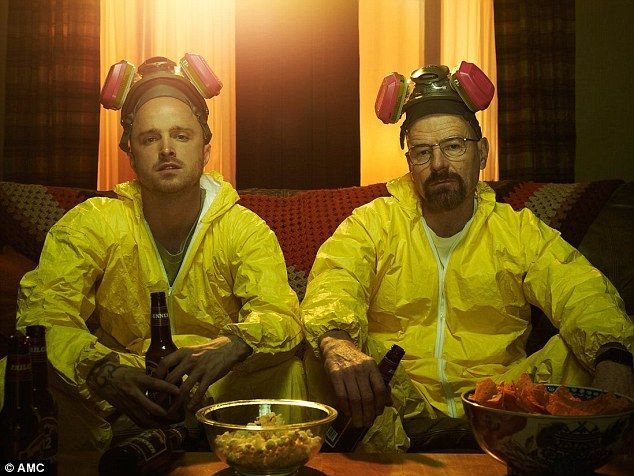 Hint, hint: The star continued to tease, 'may be already shoot that...' before purposely slipping up and saying, 'we just wrapped or they just wrapped the last season'.Breaking Bad - which also starred Bryan Cranston - aired its last episode in 2013 (pictured)