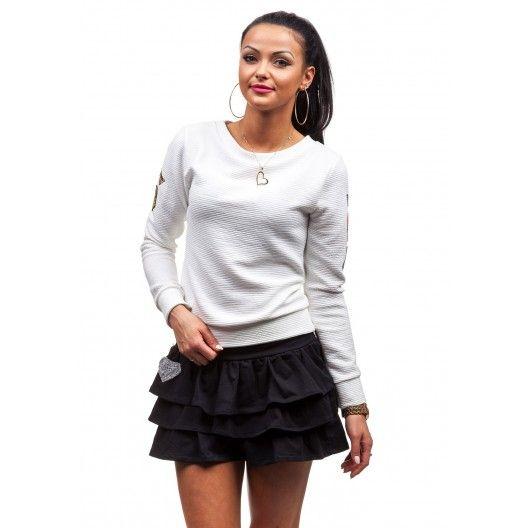 Bundička pre dievčatá v bielej farbe - fashionday.eu