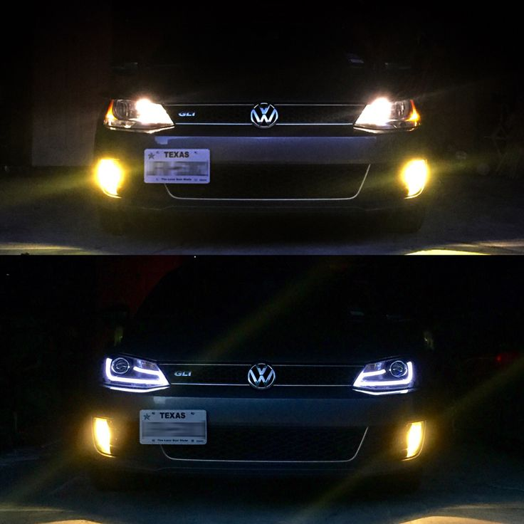 Installed new headlights. VW MK6 GLI