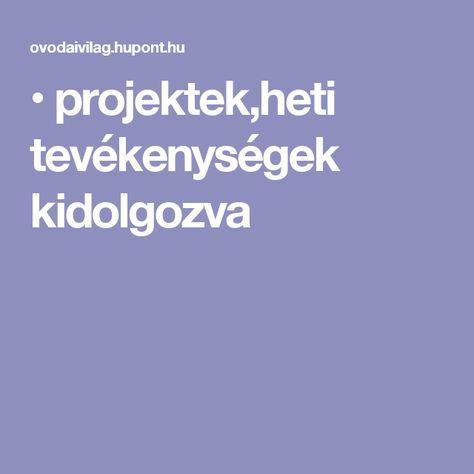 • projektek,heti tevékenységek kidolgozva