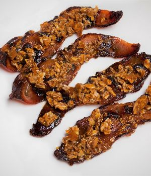 Ghost Pepper Candied Almond Bacon