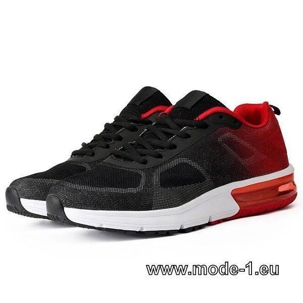 Herren Sport Schuhe in Schwarz Rot #herren #mode #fashion #sommer #2019 –