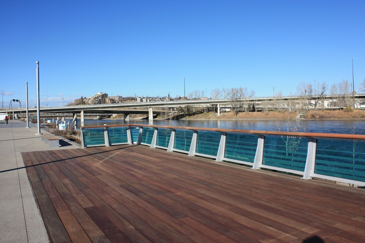 The Dark Red Meranti exotic hardwood was used to complete the Calgary RiverWalk. Supplied by Kayu Canada Inc. Looks so beautiful, nothing can even compare to it.