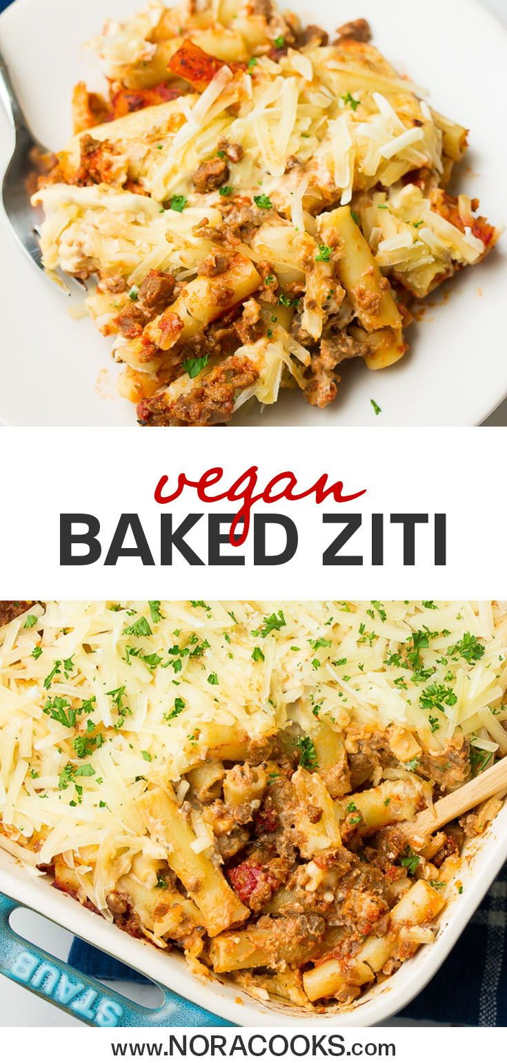 Vegan Baked Ziti With Cashew Cheese Nora Cooks In 2020 Vegan Dinner Recipes Whole Food Recipes Vegan Baking