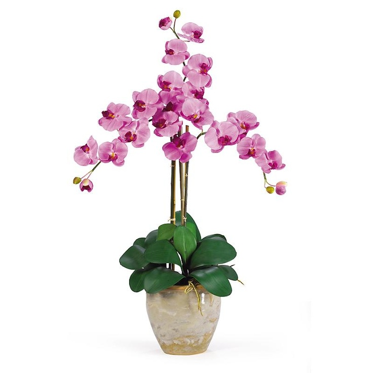 triple stem mauve mauve silk orchid for the perfect orchid with absolutely no maintenance the triple stem is - Silk Orchids