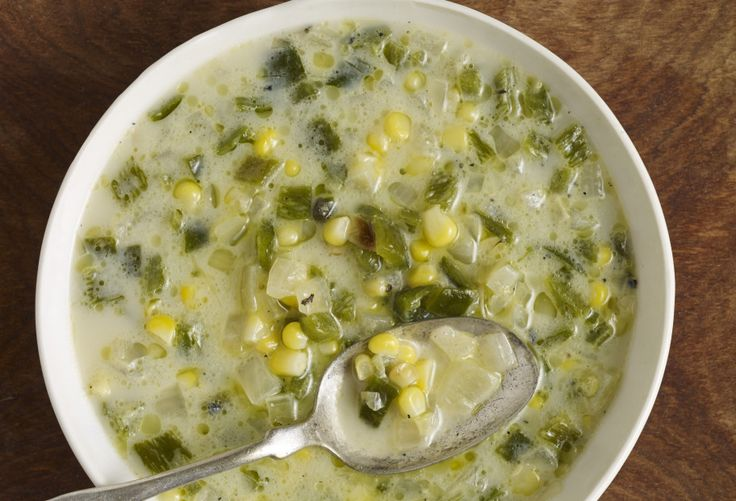 creamy poblano soup