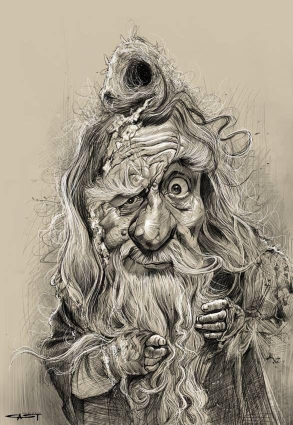 Radagast Arte Arte Fantasy Creature Magiche