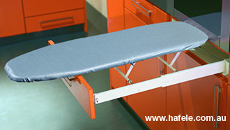 Ironfix Ironing Board: Drawer mounted for any area of the house.