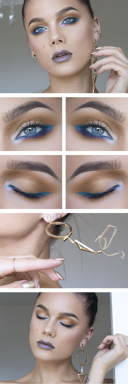Todays look – Bright turquoise - Lindas Sminkblogg
