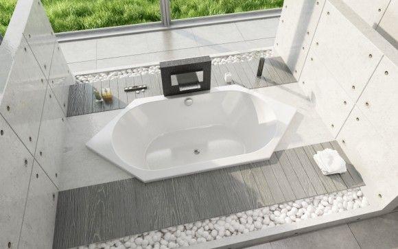 Sechsteck Badewanne Duravit D-Code 190x90 cm - Sechseck Badewannen - Badewannen - Bad & Küche | Bestshop24.eu