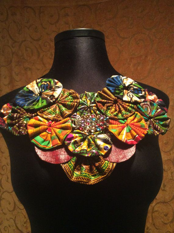 Ankara Statement neckpiece by SaloneStarr on Etsy