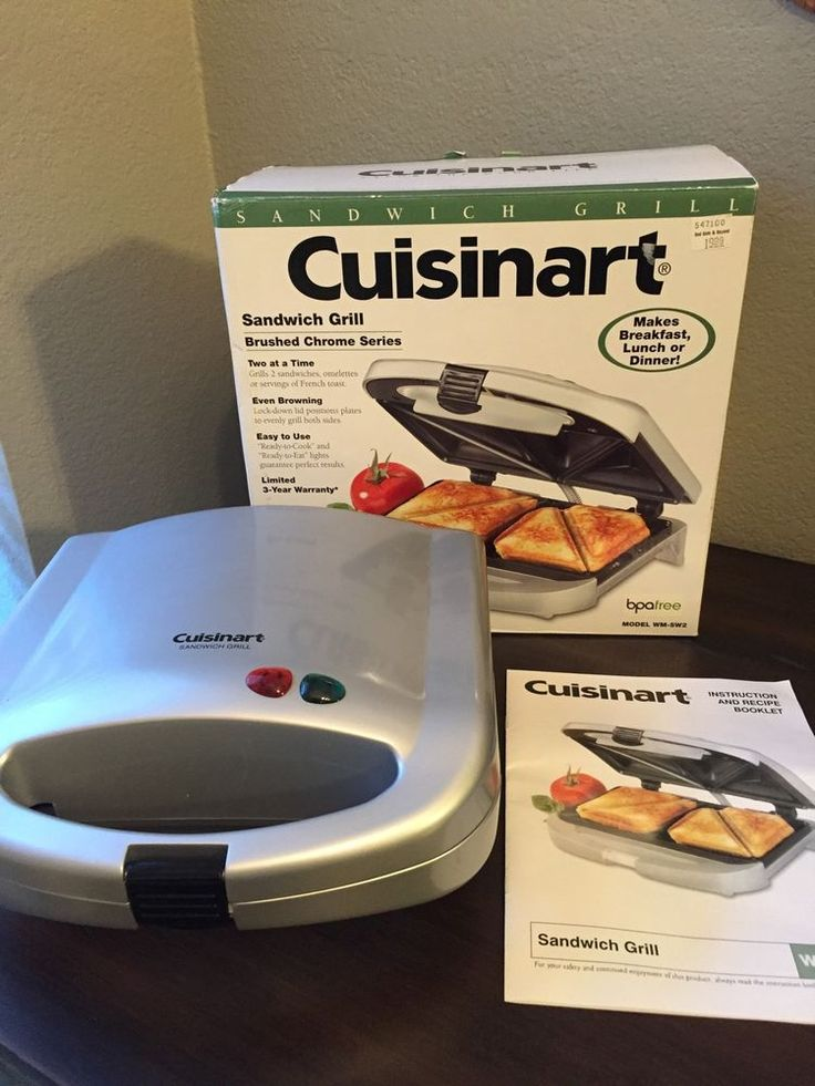 Cuisinart WM-SW2 Indoor Countertop Sandwich Grill | Home & Garden, Kitchen, Dining & Bar, Small Kitchen Appliances | eBay!