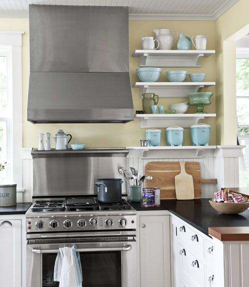 Beadboard Backsplash Beadboard Backsplash Pinterest Stove Open Shelving And Vintage Kitchen