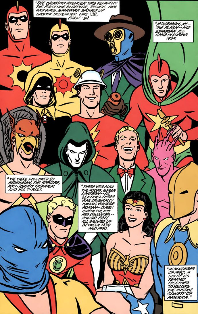Justice Society of America Golden Age Roster - Cliff Chiang