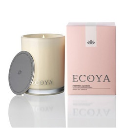ECOYA Sweet Pea & Jasmine Madison Jar candle