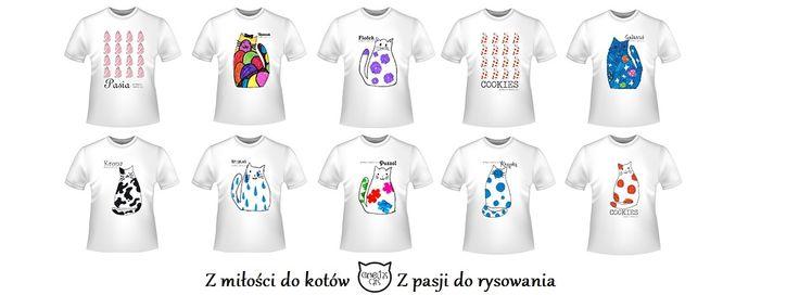 Najlepsze produkty Cornelias Cats już dostępne!   Koszulki damskie, dziecięce i męskie w przeróżnych wzorach, które łączy jedno - miłość do kotów!