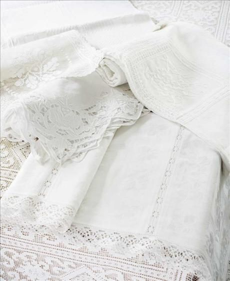 antique table linens.  I have a tendacy to hoard this style of linens.