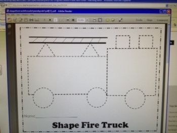 Perfect for Fire Safety Week and learning about shapes. Includes a color and cut version or a cut and glue version. Great for use in Pre-K or Kindergarten or 1st grade. Students love to cut and paste the shapes in the shape Fire Truck! Uses the rectangle, square, triangle, and circle shapes. You can customize the firetruck to say your town.