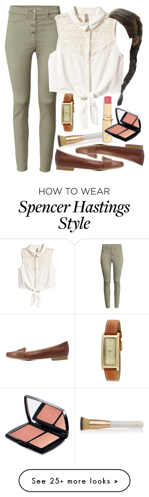 """Spencer Hastings inspired outfit"" by liarsstyle on Polyvore featuring Eve Lom, H&M, Charlotte Russe and Lancôme"