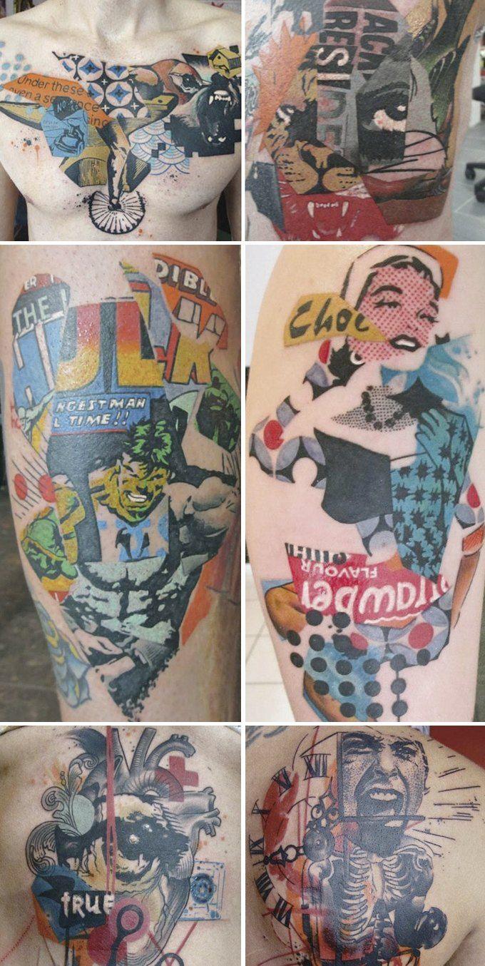 Путеводитель по самому спорному и одновременно художественному жанру татуировок — ар-брюту. Изображение №19.